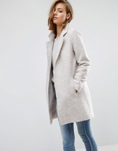 Read more about Asos slim coat in texture - stone