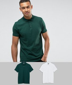 Read more about Asos jersey polo 2 pack save - compost white