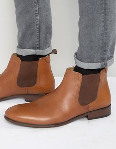 Read more about Red tape chelsea boots in tan leather - tan
