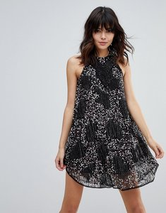 Read more about Raga galactic embellished shift dress - black