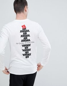 Read more about Nike jordan aj3 long sleeve top with back print in white 943938-100 - white