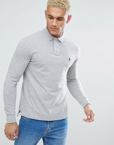 Read more about Polo ralph lauren polo shirt in grey custom regular fit - grey