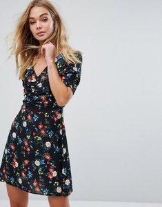 Read more about Miss selfridge floral print tea dress - black print