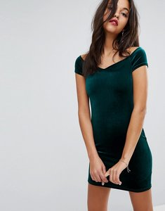 Read more about Miss selfridge exclusive sweetheart velvet dress - emerald exclusive