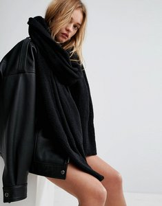 Read more about Asos oversized long knit scarf - black