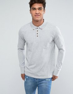 Read more about Brave soul long sleeve pique polo shirt - grey
