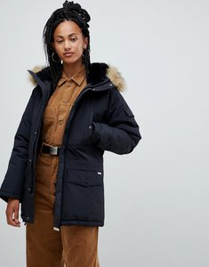 Read more about Carhartt wip parka with removable faux fur hood - black black