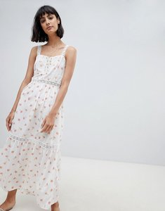 Read more about Asos design lace insert tiered maxi dress in ditsy floral - multi