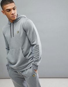 Read more about Lyle scott fitness haston hoodie in grey marl - mid grey marl