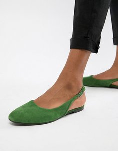 Read more about Vagabond ayden suede pointed slingback shoes - green