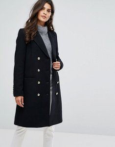 Read more about Y a s buttoned skater coat - black