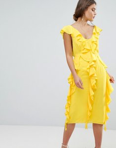Read more about Asos design sleeveless midi dress with soft ruffles