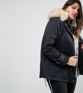 Read more about Asos curve ultimate parka - black