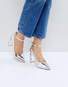 Read more about Raid rue block heeled shoes - silver