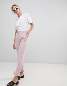Read more about Glamorous frill detail trousers - dusty pink