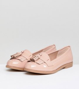 Read more about New look patent tassel loafer - oatmeal