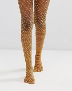 Read more about Gipsy extra large fishnet tights - mustard