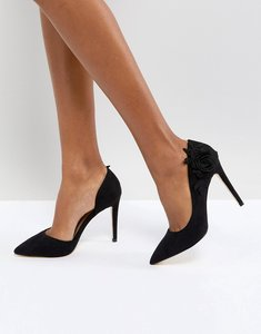 Read more about Call it spring floral cutout court shoes - black
