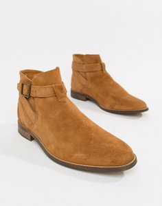 Read more about Bershka suede chelsea boots in tan - tan