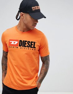 Read more about Diesel t-just-division industry logo t-shirt orange - orange