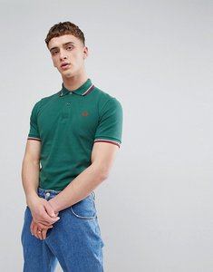 Read more about Fred perry reissues twin tipped polo in green - 145