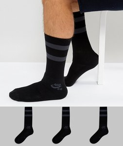 Read more about Nike sb 3 pack crew socks in black sx5760-010 - black
