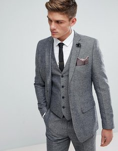 Read more about French connection semi plain donegal slim fit suit jacket - grey