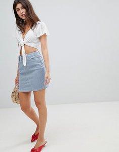 Read more about Esprit stripe mini skirt - white blue stripe