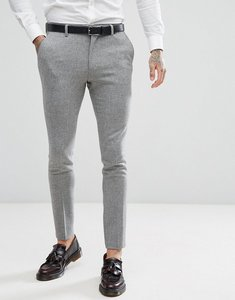 Read more about Asos super skinny suit trousers in grey houndstooth - grey