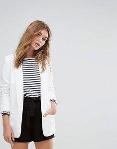 Read more about Pimkie minimal pocket blazer - white