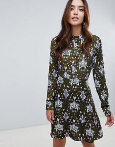 Read more about Y a s high neck printed dress - a12 1col scarab w a