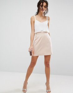 Read more about Asos tailored a-line mini skirt - blush