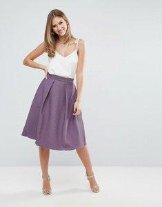 Read more about Closet full pleat midi jacquard skirt - purple
