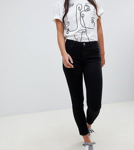 Read more about Only petite skinny leg push up effect jean in black