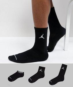 Read more about Nike jordan 3 pack waterfall socks in black sx6274-010 - black