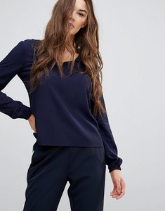 Read more about Vero moda long sleeved navy blouse - navy