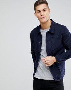 Read more about Selected homme denim worker jacket - dark blue denim