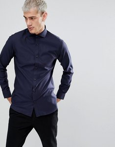 Read more about Selected homme slim shirt with cutaway collar - dark sapphire