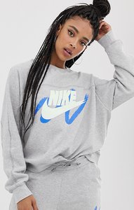 Read more about Nike archive exclusive to asos grey scribble logo sweatshirt - grey