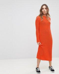 Read more about Asos crochet maxi dress - orange