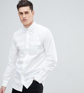 Read more about French connection tall slim fit shirt with double pocket - white
