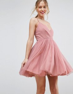Read more about Asos tulle mini dress - nude