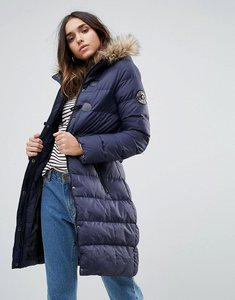 Read more about Brave soul mid padded coat - navy