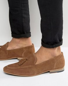 Read more about Kg by kurt geiger tassel loafers in tan suede - tan