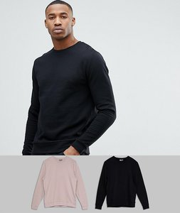Read more about Asos sweatshirt 2 pack black pink save - black dainty