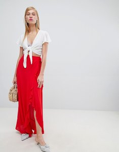 Read more about New look wrap frill maxi skirt - bright red
