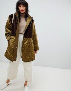 Read more about Asos design faux fur panelled parka