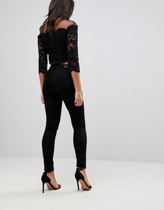 Read more about Salsa wonder push up mid rise skinny jean - black
