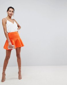 Read more about Asos scuba mini skirt with frill - orange