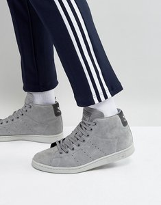 Read more about Adidas originals stan smith mid trainers in grey bz0651 - grey